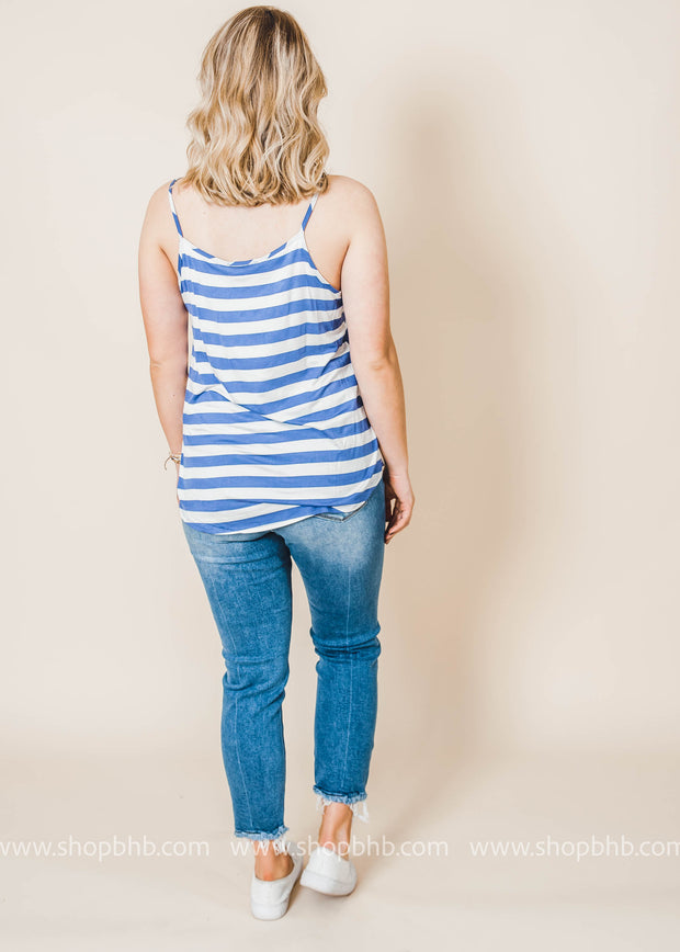 striped vneck camisole tank top