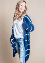 Hold Me Forever Striped Duster Cardigan, CLOTHING, La Mel, BAD HABIT BOUTIQUE