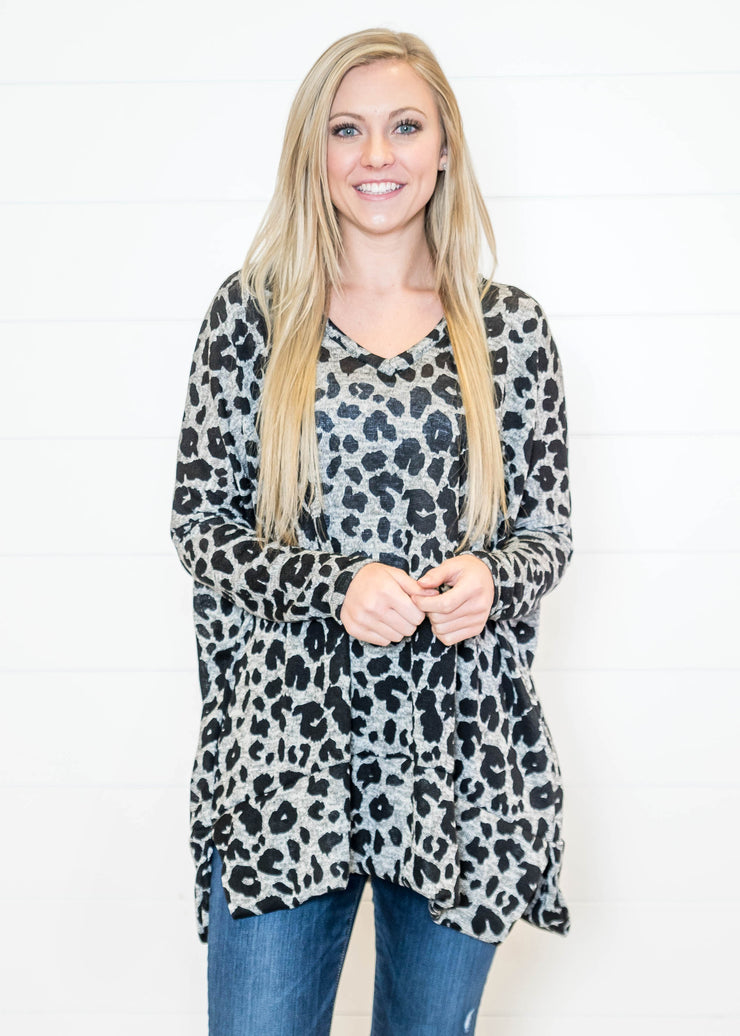Did we mention this cheetah print tunic has pockets???