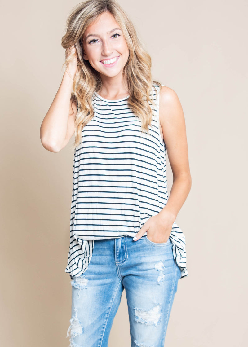 Basic Stripe Tank Top, CLOTHING, BOMBOM, BAD HABIT BOUTIQUE
