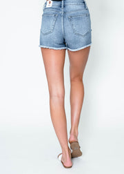 HI-RISE Frayed Shorts | FINAL SALE, CLOTHING, JUST USA, BAD HABIT BOUTIQUE