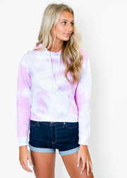 Barefoot Tie Dye Cropped Hoodie | FINAL SALE, CLOTHING, Exist Sports Line, BAD HABIT BOUTIQUE