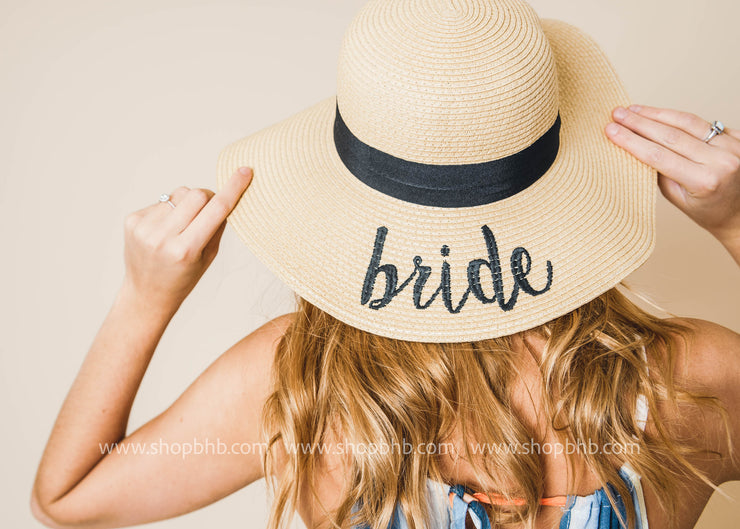 Bride Floppy Sun Hat, HATS, A FASHION AND ACCESSORIES, BAD HABIT BOUTIQUE