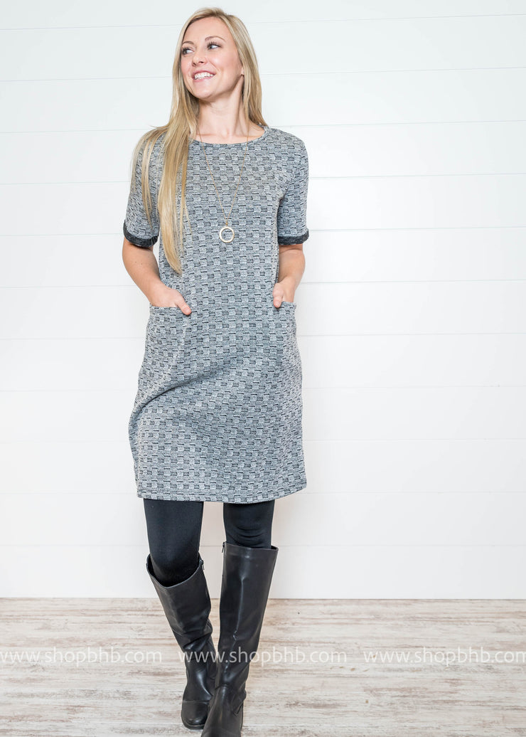 Iconic Milan Dress- Charcoal- FINAL SALE