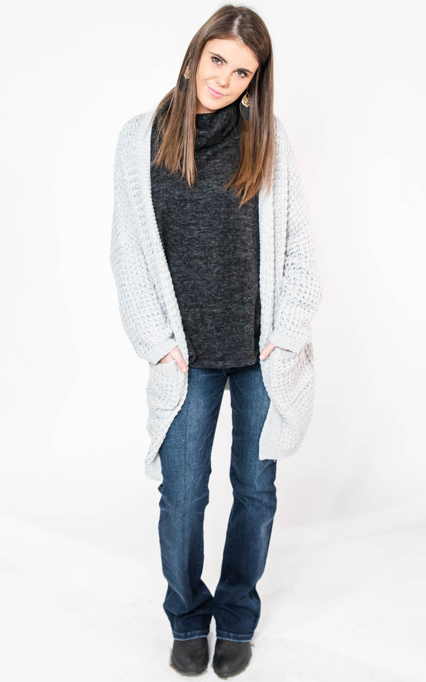Heavy Knit Cardigan - Miracle, CLOTHING, MIRACLE, BAD HABIT BOUTIQUE