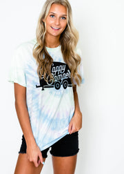 Tie Dye Happy Camper T-shirt, CLOTHING, BAD HABIT APPAREL, BAD HABIT BOUTIQUE