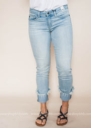 Relaxed Fit Cuffed  Light Wash | Judy Blue