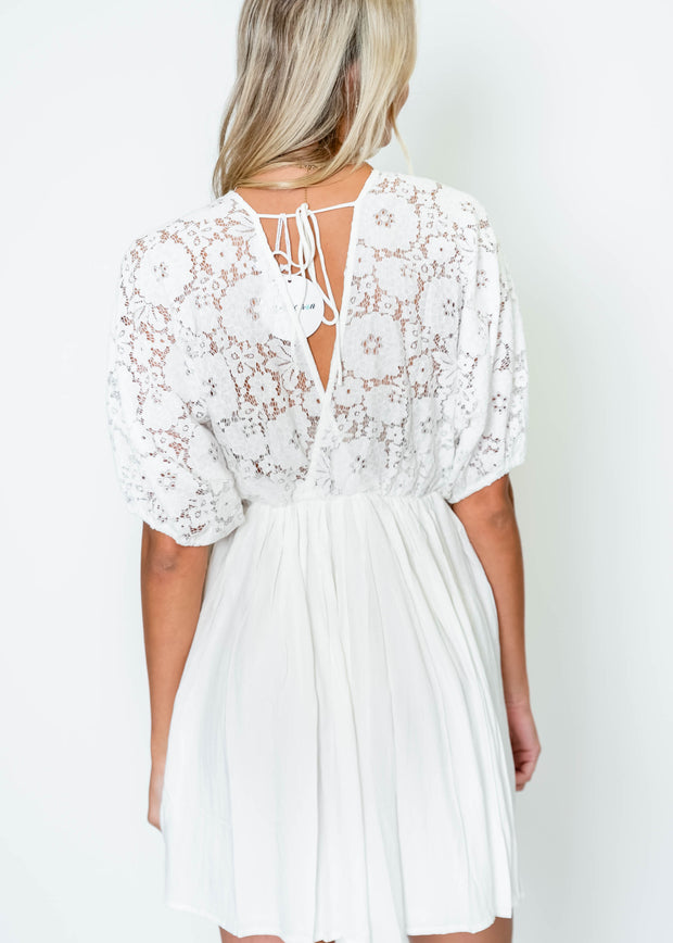 Lace Top Dress - Ivory | FINAL SALE, CLOTHING, BiBi, BAD HABIT BOUTIQUE