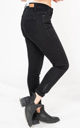 Mid-Rise Black Skinny Jeans - Judy Blue, CLOTHING, JUDY BLUE, BAD HABIT BOUTIQUE