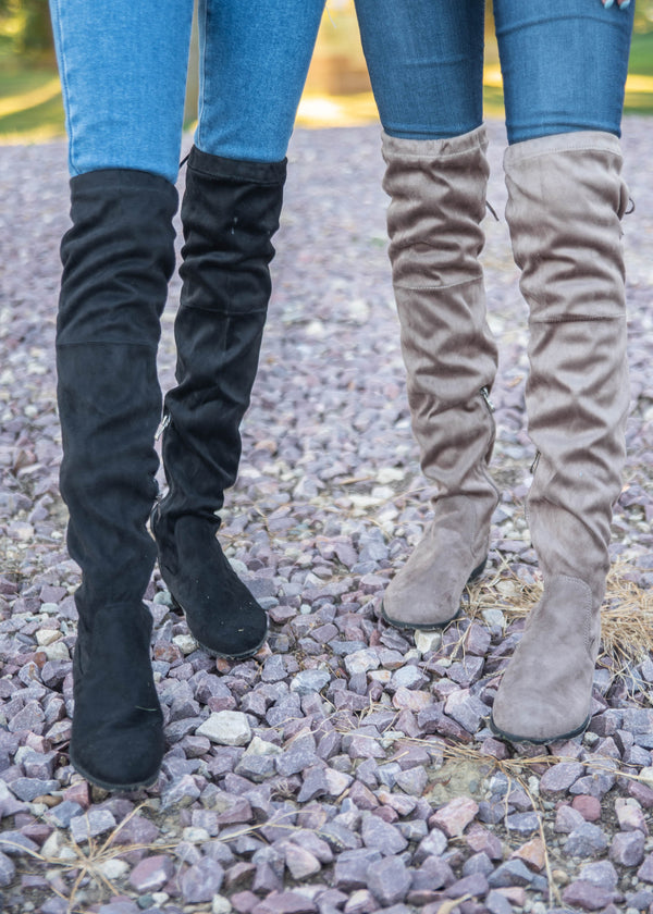 Over The Knee Suede Boots | FINAL SALE, SHOES, SHOE SHOE TRAIN, BAD HABIT BOUTIQUE