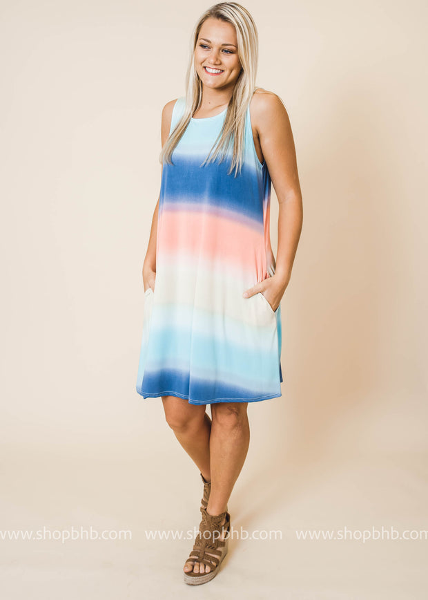 Ombre Dress with pockets FINAL SALE