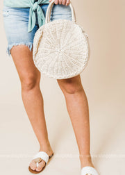 Always Around Circle Straw Clutch, HANDBAGS, H&D, BAD HABIT BOUTIQUE