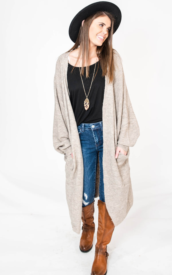 Just Cozy Oversized Knit Cardigan, CLOTHING, MIRACLE, BAD HABIT BOUTIQUE