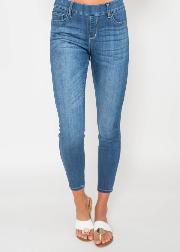 Midrise Pull on Skinny Jeans - Cello | FINAL SALE, CLOTHING, CELLO JEANS, BAD HABIT BOUTIQUE