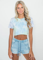 Crop It Like It's Hot Tie Dye Tee | FINAL SALE