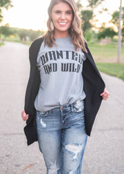 wanted and wild graphic t-shirt for women