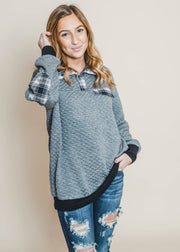 quilted pullover, pullover, long sleeve, winter style, winter fashion, winter tops, top