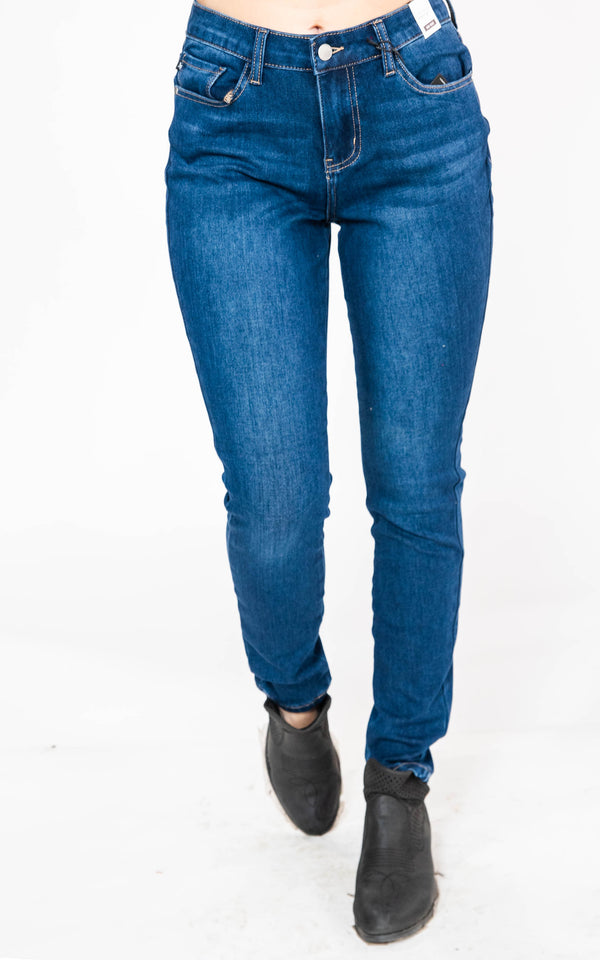 Thermadenim Mid- Rise Skinny Jeans - Judy Blue, CLOTHING, JUDY BLUE, BAD HABIT BOUTIQUE