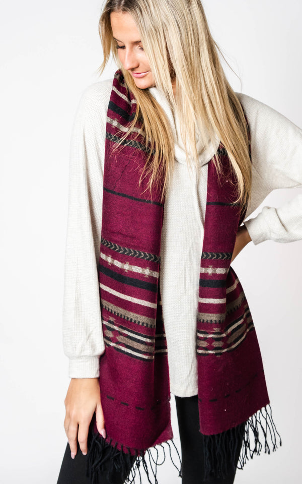 Cheyenne Aztec Blanket Scarf, CLOTHING, Leto, BAD HABIT BOUTIQUE