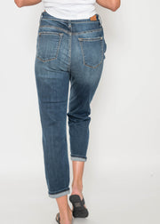 Judy Blue -High Waist Button Fly Cuffed Capri 82143 | FINAL SALE, CLOTHING, JUDY BLUE, BAD HABIT BOUTIQUE