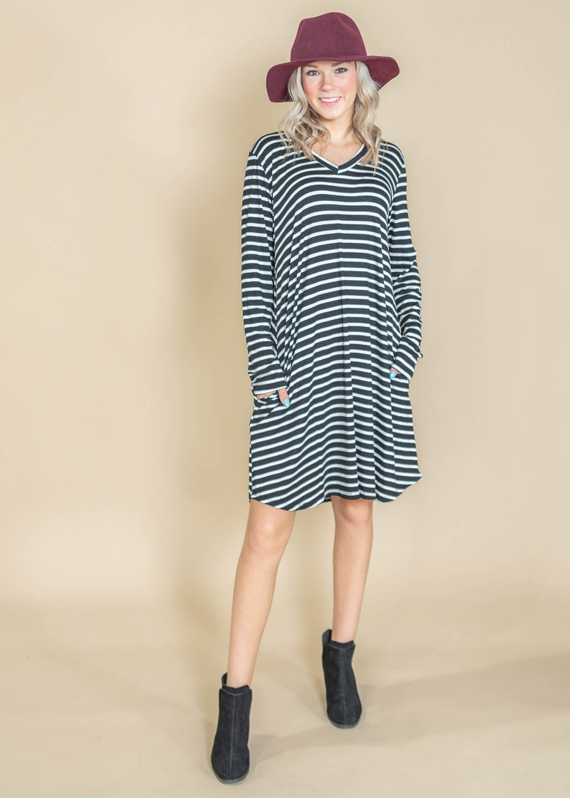 Rock with Me Striped Dress | FINAL SALE, CLOTHING, Heimish, BAD HABIT BOUTIQUE