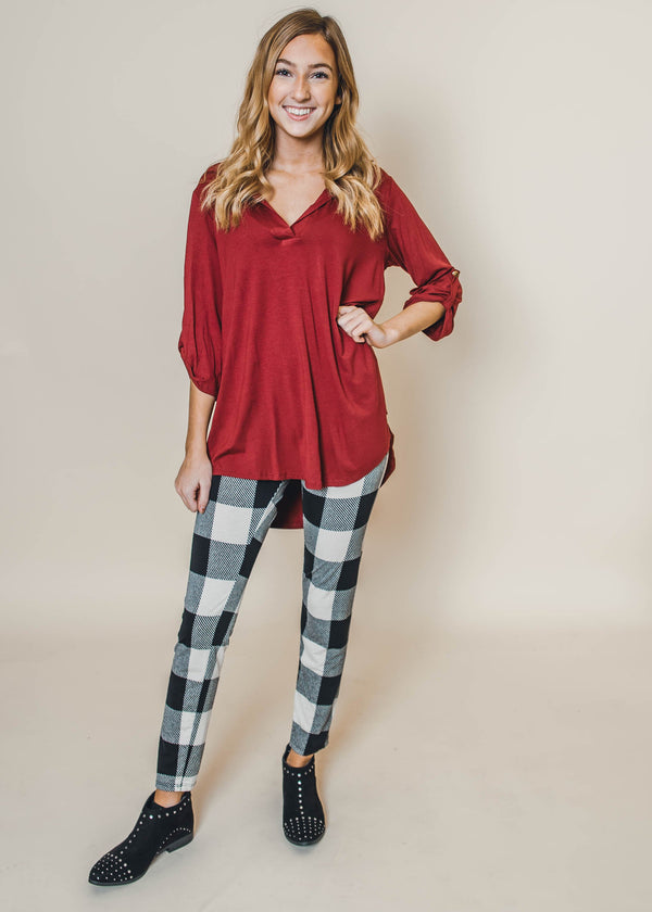 Buffalo Plaid Leggings - Final Sale, CLOTHING, Heimish, BAD HABIT BOUTIQUE