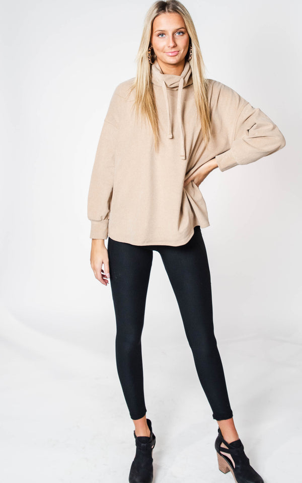 Soft & Cozy Cowl Neck Top, CLOTHING, Cherish, BAD HABIT BOUTIQUE