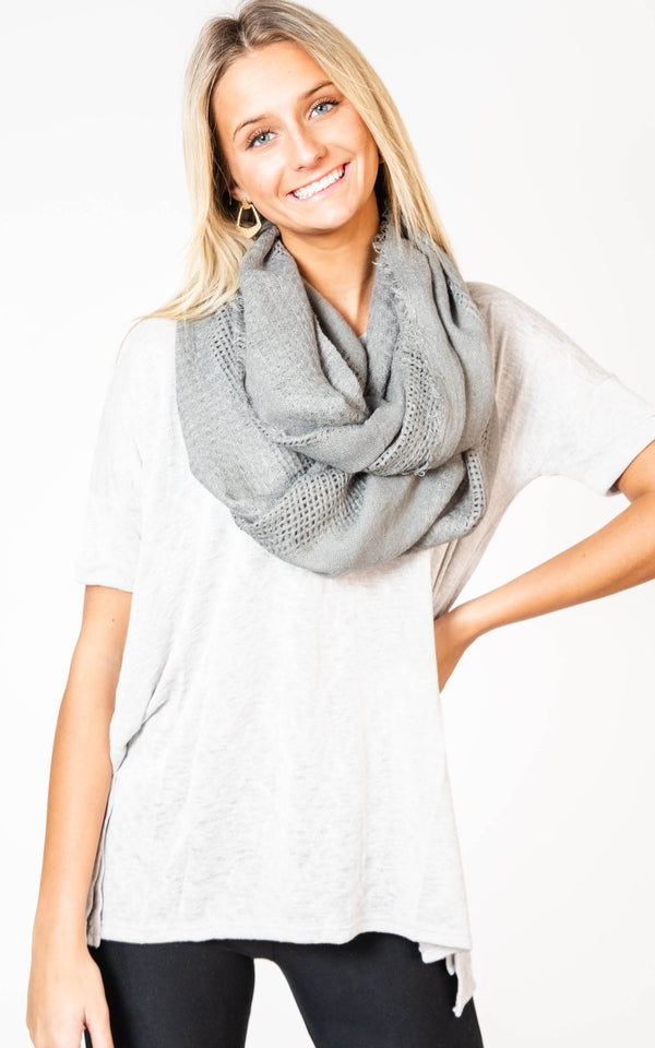 Open Grid Infinity Scarf, CLOTHING, Leto, BAD HABIT BOUTIQUE