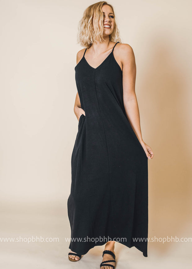 cami maxi dress with pockets