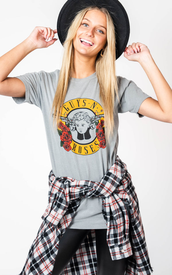 Guys N Roses Band Tee, GRAPHICS, BAD HABIT APPAREL, BAD HABIT BOUTIQUE