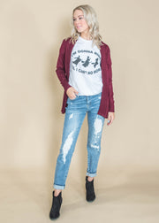 large hole distressed denim
