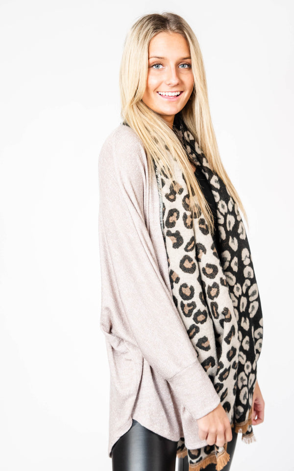 Leopard Scarf, CLOTHING, Leto, BAD HABIT BOUTIQUE