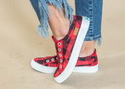 BLOWFISH red black buffalo plaid sneakers