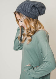 Waffle Knit Slouchy Beanie | FINAL SALE, ACCESSORIES, Leto, BAD HABIT BOUTIQUE