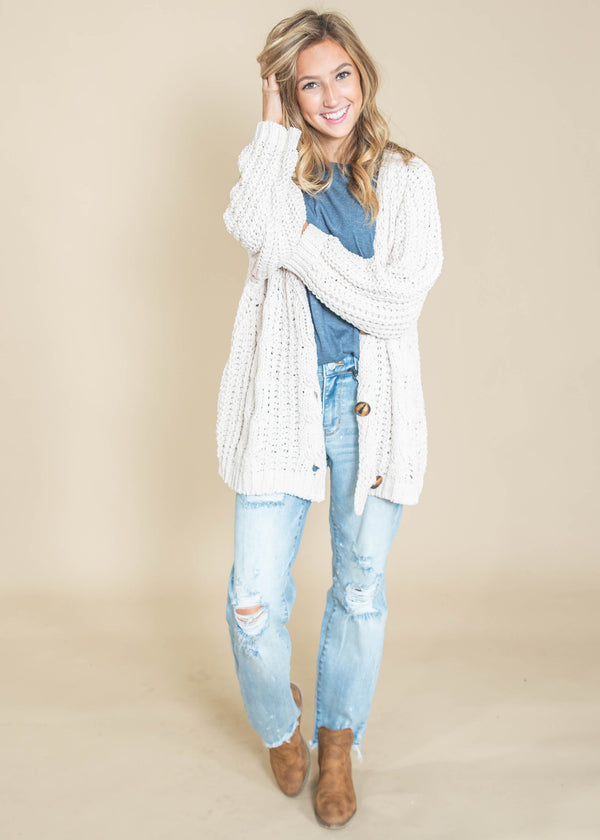 My Grandma's So Soft Sweater Cardigan, CLOTHING, MIRACLE, BAD HABIT BOUTIQUE