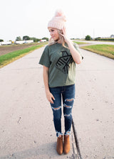 Wanderlust Thunderbird Graphic Tee - Olive, CLOTHING, BAD HABIT APPAREL, BAD HABIT BOUTIQUE