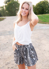 Snake Print Shorts, CLOTHING, HEMISIH, BAD HABIT BOUTIQUE