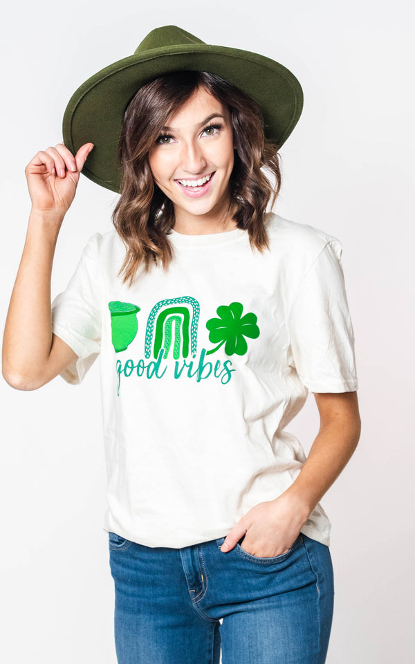 Good Vibes Unisex T-shirt, CLOTHING, BAD HABIT APPAREL, BAD HABIT BOUTIQUE