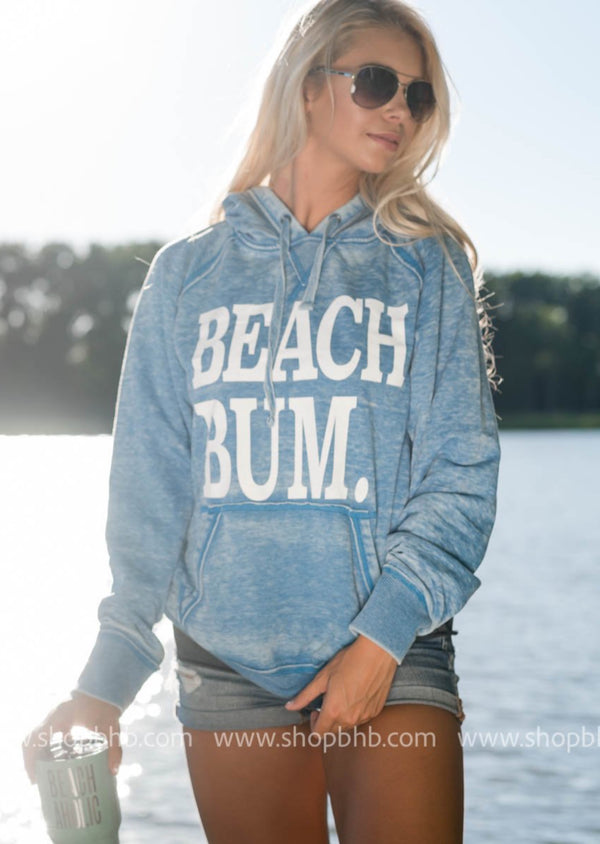 Beach Bum Hoodie - Vintage Royal, CLOTHING, BAD HABIT APPAREL, BAD HABIT BOUTIQUE