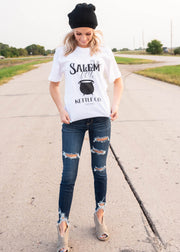 what salem halloween t-shirt for women