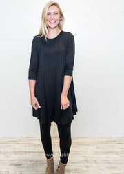 On the 5th Day of Christmas- Long Sleeve Solid Tunic