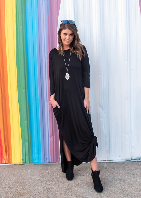 Black Maxi Dress, CLOTHING, Heimish, BAD HABIT BOUTIQUE
