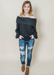Off The Shoulder Oversize Sweater