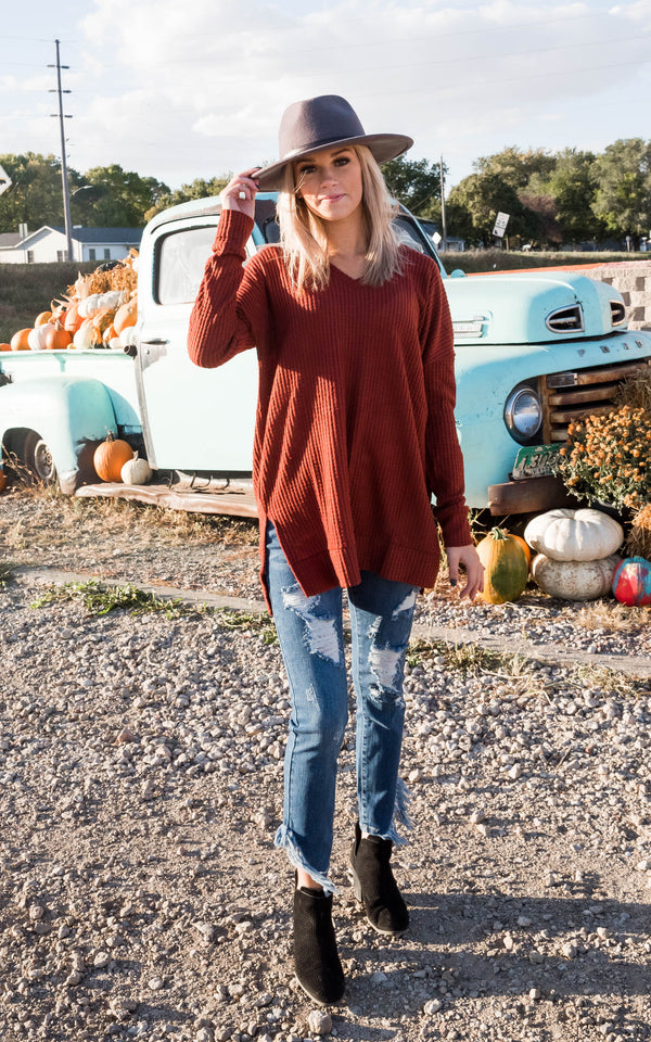 Waffle Tunic { deal of the day}, CLOTHING, Zenana, BAD HABIT BOUTIQUE