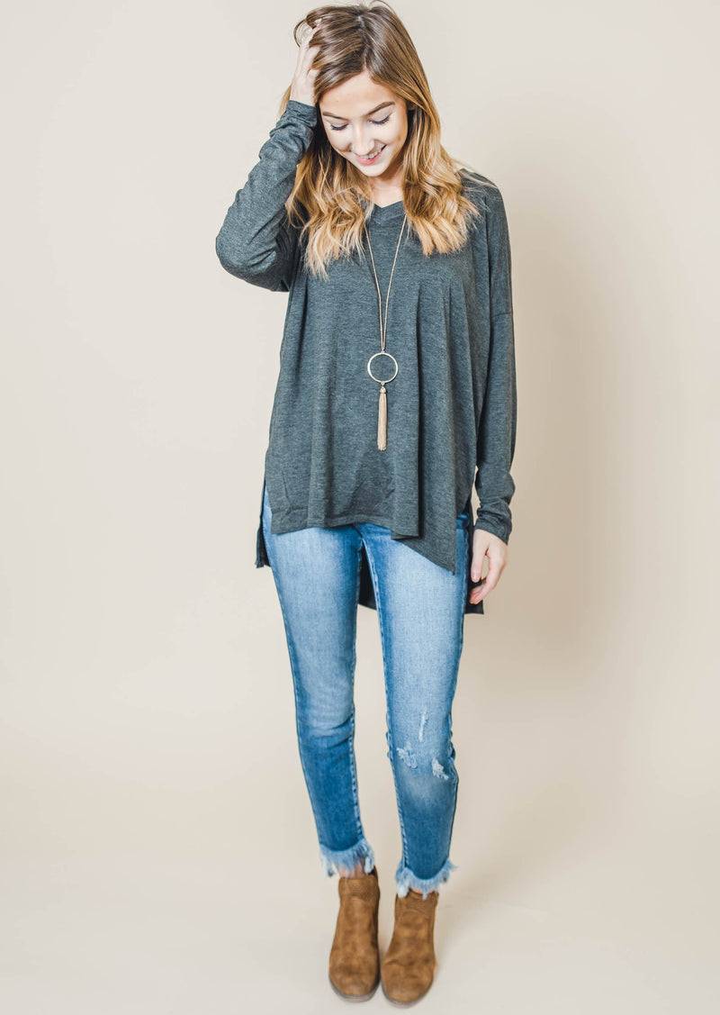 High Rise Frayed Ankle Skinny  - Kan Can - Final Sale, CLOTHING, KAN CAN, BAD HABIT BOUTIQUE