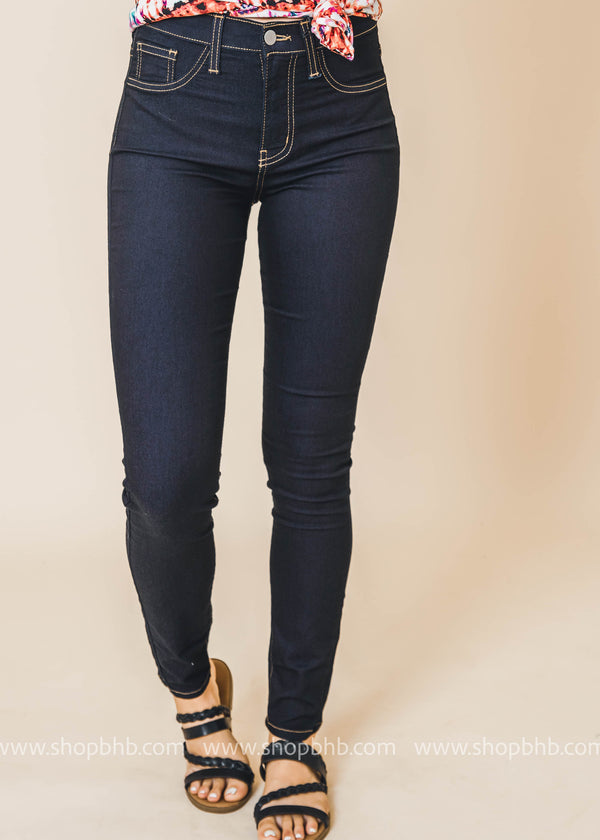 High Waist Dark Denim Skinny - Judy Blue, CLOTHING, JUDY BLUE, BAD HABIT BOUTIQUE