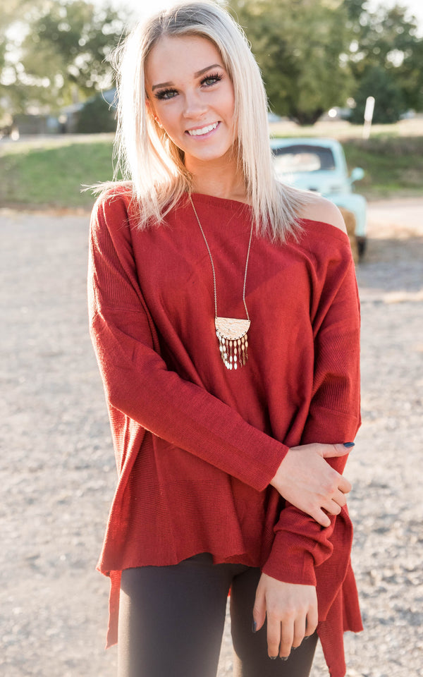 Swoon Relaxed Sweater Tunic, CLOTHING, MIRACLE, BAD HABIT BOUTIQUE