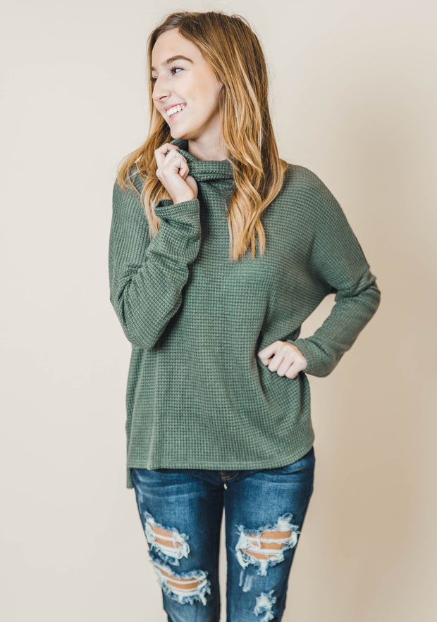 textured knit sweater long sleeve turtleneck burgundy olive mocha