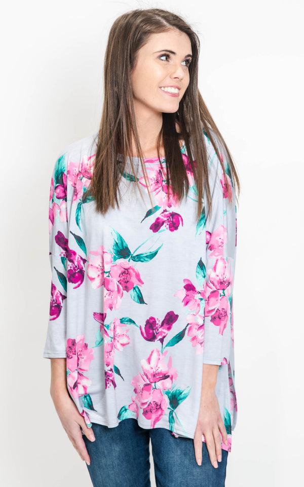 floral tunic blouse