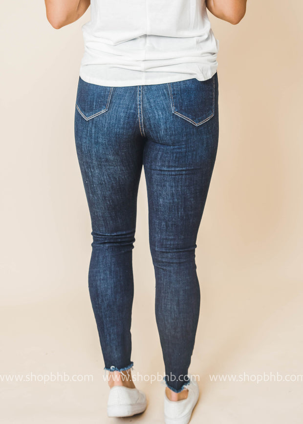 high rise button fly cello skinny jeans